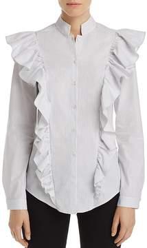 Aqua Ruffled Striped Shirt - 100% Exclusive