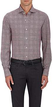 Finamore Men's Checked Cotton Flannel Shirt