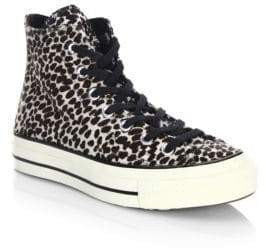 Converse CTAS '70 Cheetah-Print Faux Fur High-Top Sneakers