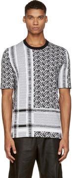 McQ Black and White Knit Razor T-Shirt
