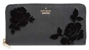 Kate Spade Cameron Street Flock Roses Lacey Wallet