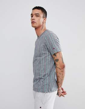 Champion Striped T-Shirt In Gray