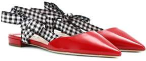 Miu Miu Patent leather slippers