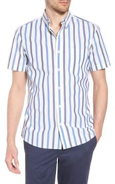 1901 Trim Fit Stripe Stretch Sport Shirt