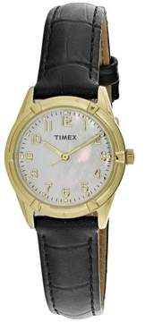 Timex Women's Style Elevated TW2P76200 Gold Leather Quartz Fashion Watch