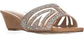 Thalia Sodi Ts35 Rallie Slide Wedge Dress Sandals, Tan.