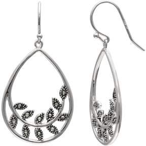 Brilliance+ Brilliance Silver Plated Marcasite Vine Teardrop Earrings
