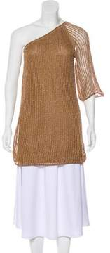 Calypso Metallic One-Shoulder Tunic