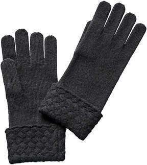 Sofia Cashmere sofiacashmere Sofiacashmere Cuffed Touchscreen Gloves