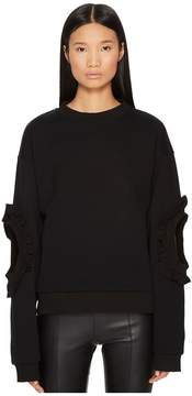Francesco Scognamiglio Accented Elbow Long Sleeve Sweater Women's Sweater