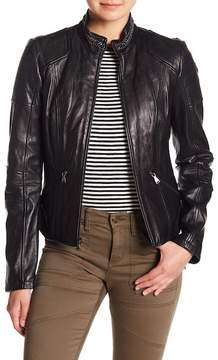 GUESS Chain Collar Leather Jacket