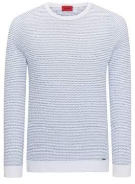HUGO Boss Striped Sweater Stanon S White