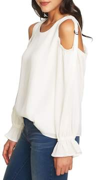 1 STATE 1.STATE Blouson Sleeve Cold Shoulder Top