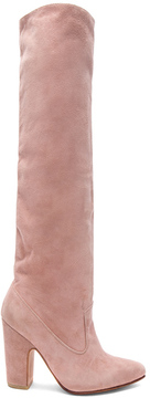 Ulla Johnson Suede Sloane Boots in Pink.