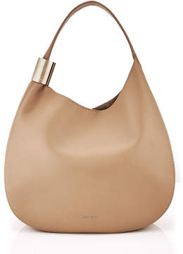Jimmy Choo STEVIE Nude Nappa Leather Shoulder Bag