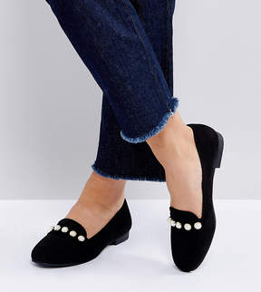 New Look Pearl Detail Loafer
