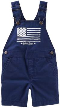 Osh Kosh Oshkosh Bgosh Toddler Boy Flag Graphic Shortalls