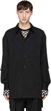 Lanvin Black Long Chest Pocket Shirt