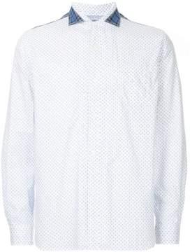 Junya Watanabe patterned patch detail shirt