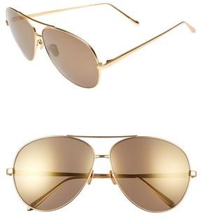 Linda Farrow Women's 64Mm Aviator Sunglasses - Matte Yellow Gold
