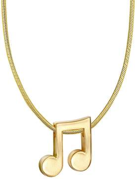 Alex Woo Women's 14K Yellow Gold Music Note Necklace