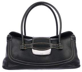 Tod's Contrast-Stitched Leather Shoulder Bag
