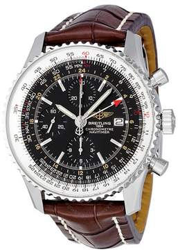 Breitling Navitimer World Automatic Chronograph Black Dial Men's Watch A2432212-B726BRCD