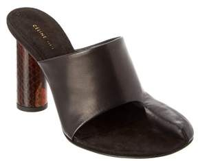 Celine Pirate Leather Mule.