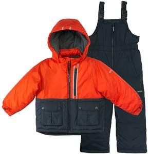 Osh Kosh Baby Boy Heavyweight Colorblocked Jacket & Bib Overall Snow Pants Set