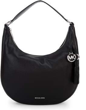 MICHAEL Michael Kors Lydia Tasseled Large Hobo Bag - BLACK - STYLE