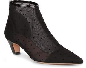 Christian Dior Pretty polka-dot mesh bootie