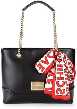 Love Moschino Women's Logo Scarf Chain Tote Bag