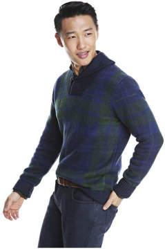 Joe Fresh Men's Plaid Sweater, JF Midnight Blue (Size S)