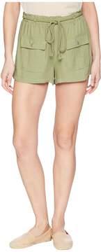 BB Dakota Paisley Cargo Shorts with Rope Belt Women's Shorts