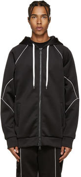 Pyer Moss Black Flex Zip-Up Hoodie