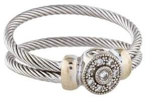 Charriol 18K Diamond Double Cable Cocktail Ring