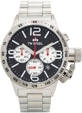 TW Steel Mens Silver-Tone Three Eye Canteen Bracelet Watch