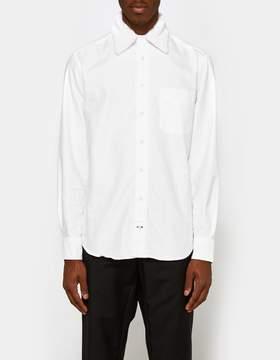 Gitman Brothers Removeable Fur Collar Shirt in White