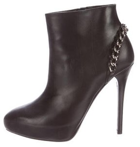 Ralph Lauren Collection Chain-Link Leather Ankle Boots