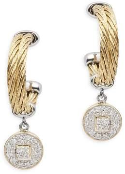 Alor Women's Diamond, 18K Gold & Stainless Steel Circle Dangle & Drop Earrings