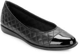 The Flexx Rise A Smile 2 Cap-Toe Quilted Leather Flats