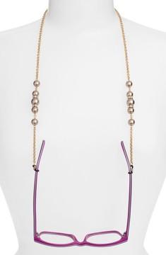 Swarovski Women's L. Erickson 'Cadabra' Crystal Eyeglass Chain - Brown/ Gold