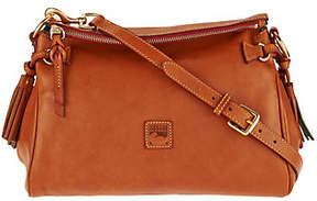 Dooney & Bourke As Is Florentine Leather Medium Zip Crossbody