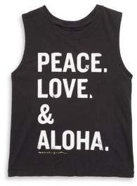 Spiritual Gangster Girl's Peace Love Aloha Muscle Tank