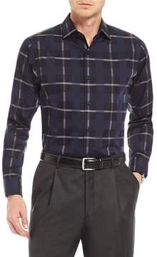 Hart Schaffner Marx Large Plaid Long-Sleeve Sportshirt