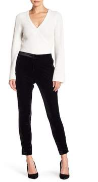 Cupcakes And Cashmere Evalina Velvet Side Stripe Pants