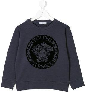 Versace medusa head print sweatshirt