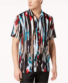 INC International Concepts Mr. Turk X I.n.c. Men's Ikat Camp Collar Shirt, Created for Macy's
