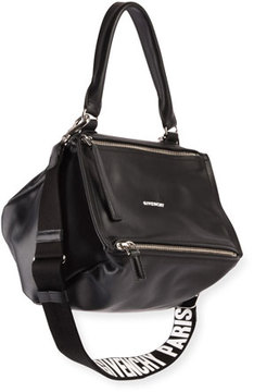Givenchy Pandora Small Logo-Strap Satchel Bag
