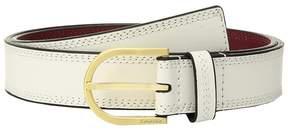 Calvin Klein Stitched Flat Strap Belt w/ Eyelets Women's Belts